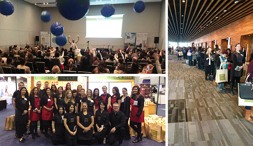 Record Attendance For Eminence Organics At Esthétique Spa International Vancouver