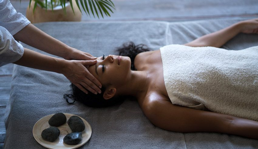 Woman receiving the benefits of massage