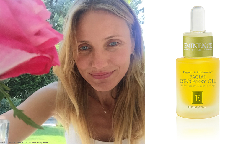 Cameron Diaz hits the beach with Eminence Organics Facial Recovery Oil