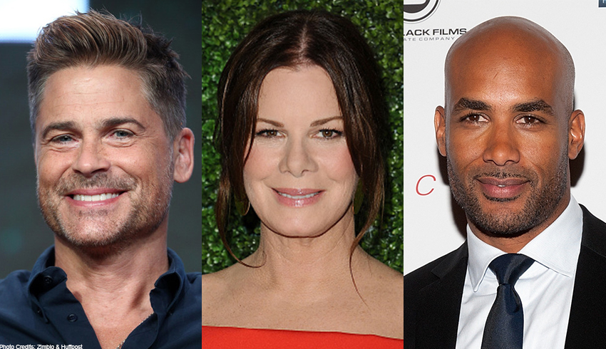 Rob Lowe, Marcia Gay Harden and Boris Kodjoe of CBS Drama