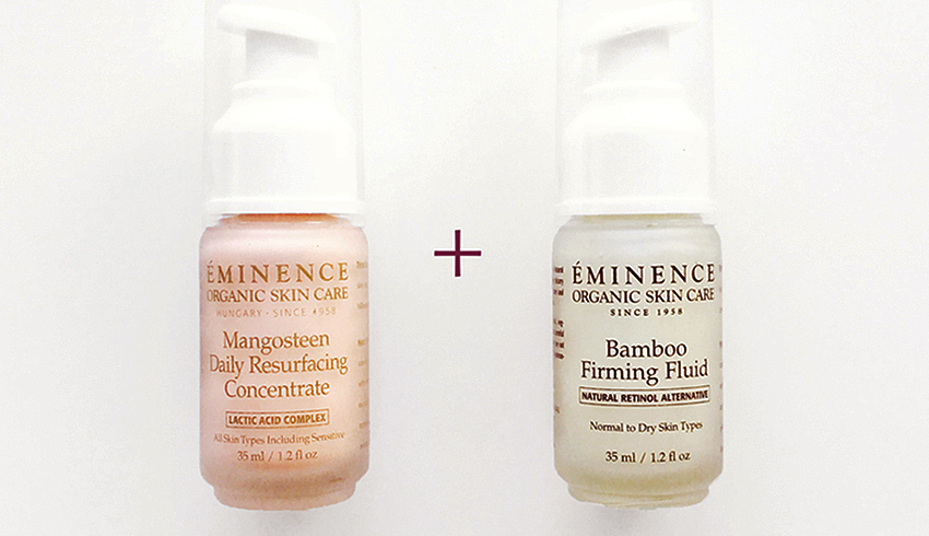 Eminence Organics Mangosteen Daily Resurfacing Concentrate & Bamboo Firming Fluid