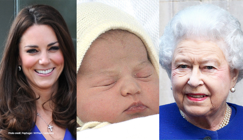 Kate Middleton, Princess Charlotte, Queen Elizabeth
