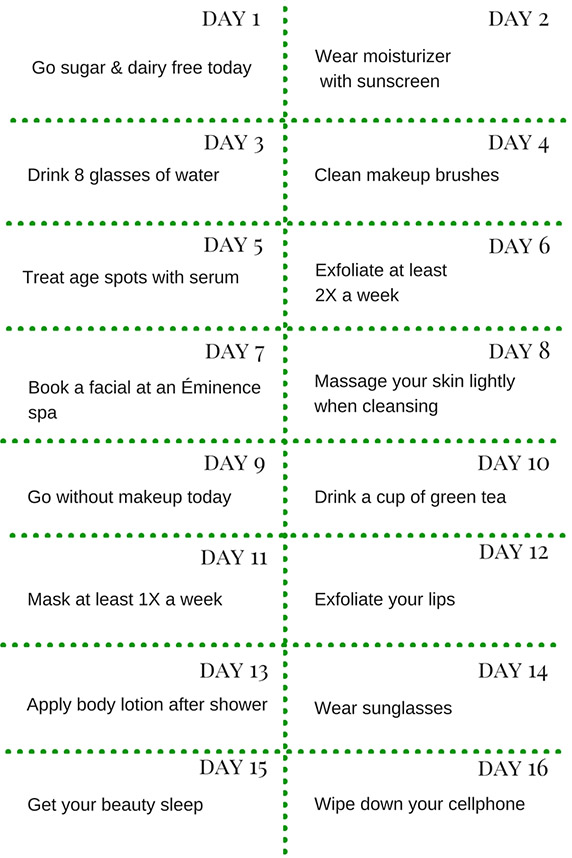 Habits for your best skin, part one infographic
