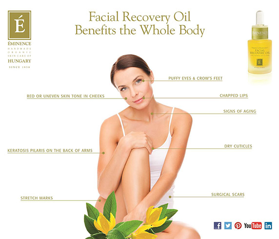 Eminence Organics Facial Recovery Oil benefits for the whole body
