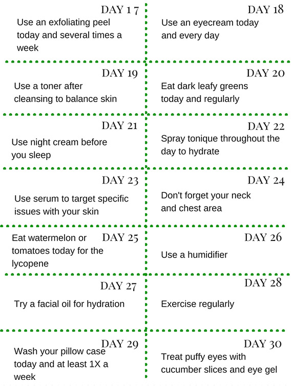 Habits for your best skin, part two infographic