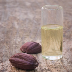 Jojoba oil in a glass