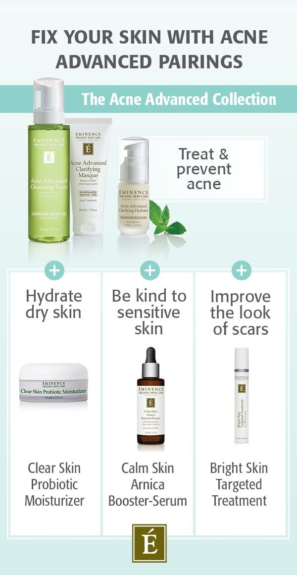 Pairings with Eminence Organics Acne Advanced Treatment System