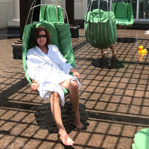 Contest winner, Karen Coigne at Eau Palm Beach Resort and Spa
