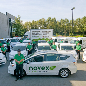 Fleet of Novex eco-friendly vehicles