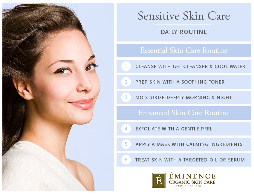 sensitive skin care routine