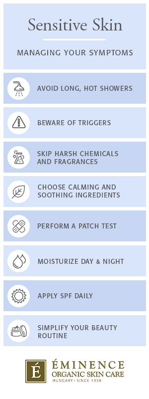 how to manage sensitive skin symptoms