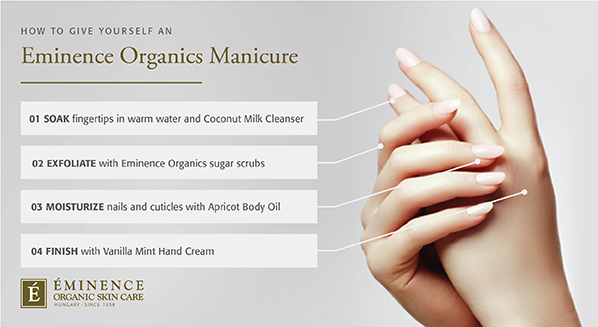 How to give yourself an Eminence Organics manicure
