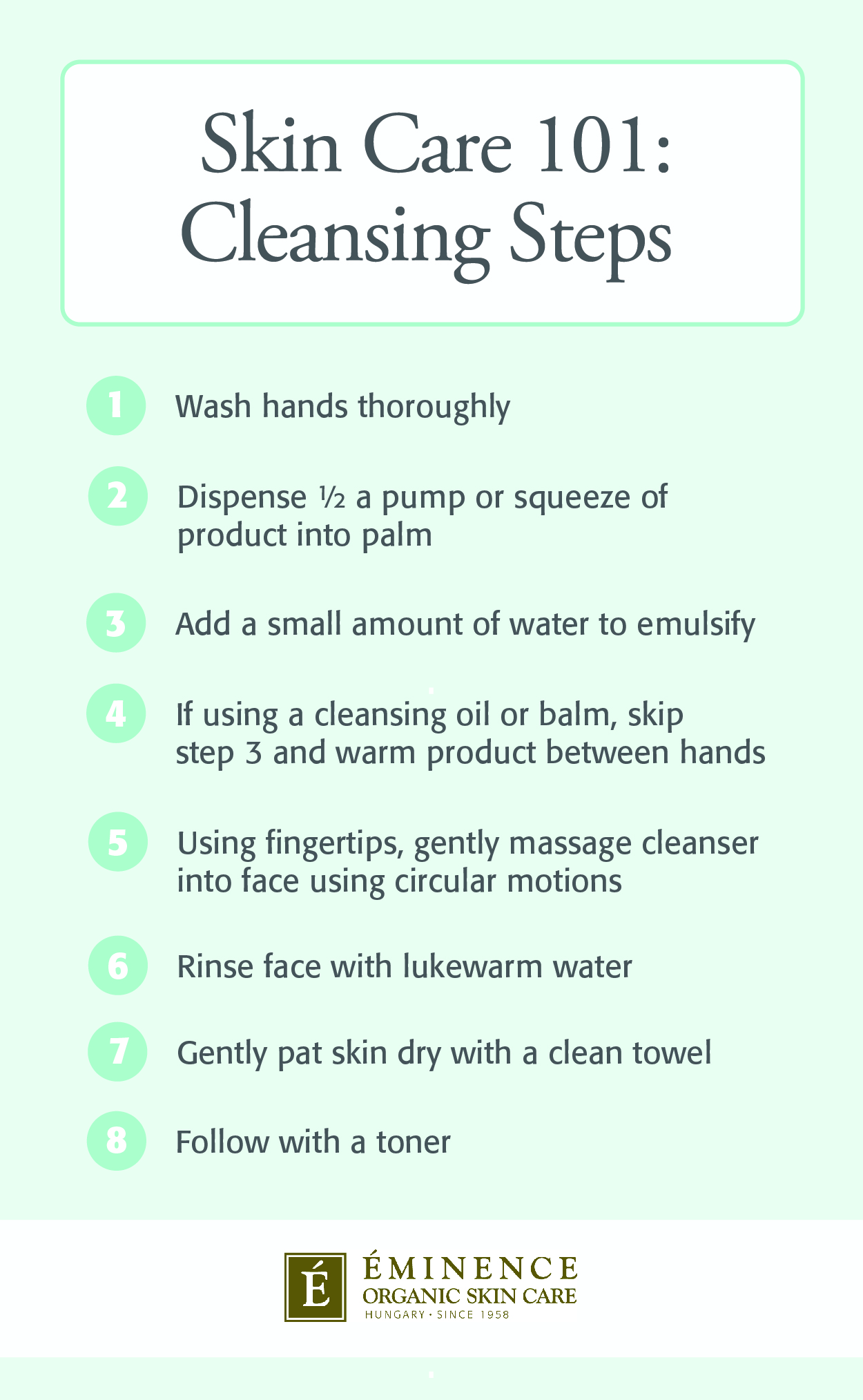 steps to wash your face infographic