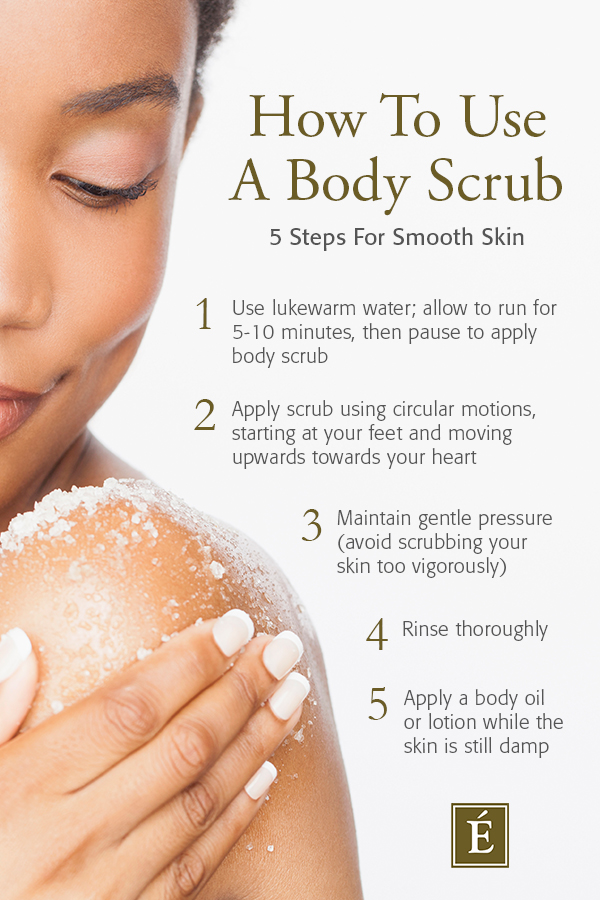How To Use A Body Scrub Infographic