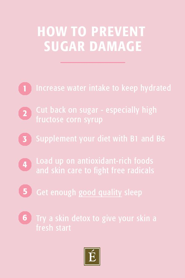 list of how to prevent sugar damage