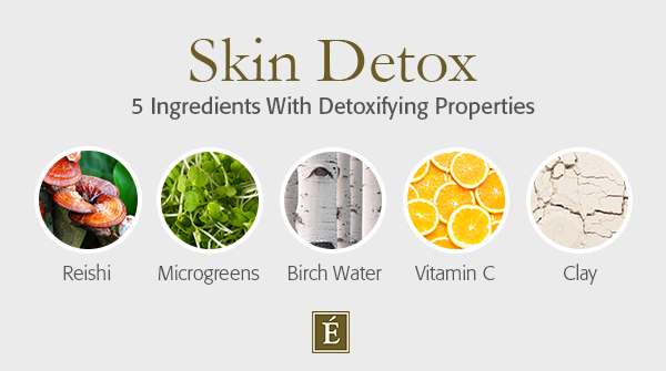 skin detox ingredients graphic