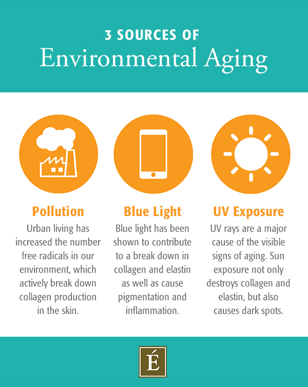 3 sources of environmental aging diagram