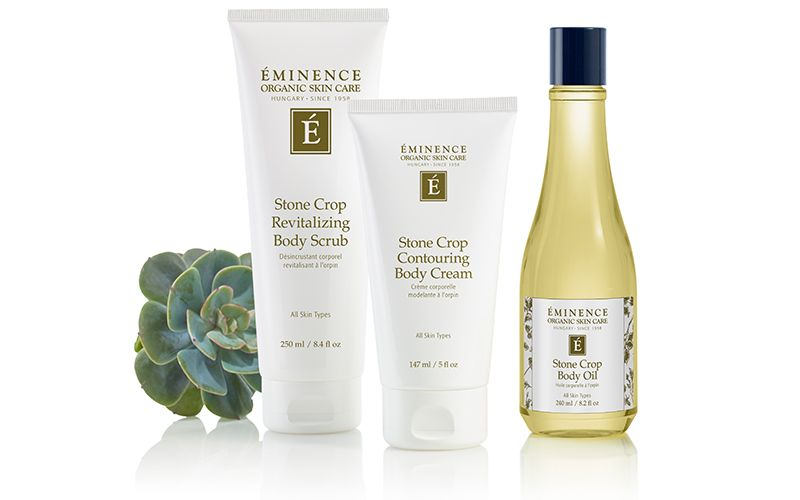 Stone Crop Revitalizing Body Scrub, Stone Crop Body Oil and Stone Crop Contouring Body Cream