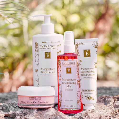 Eminence Organics Mangosteen Face and Body Skin Care Products