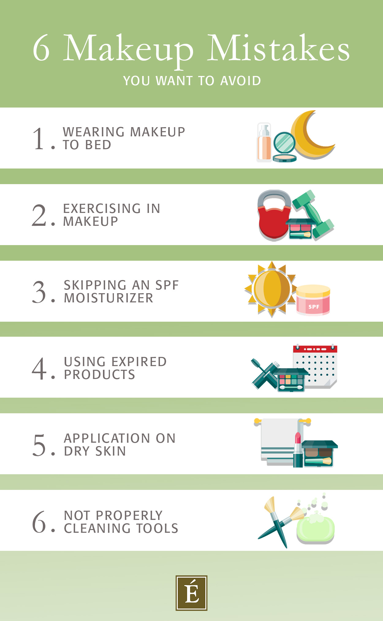 Eminence Organics Makeup Mistakes Infographic
