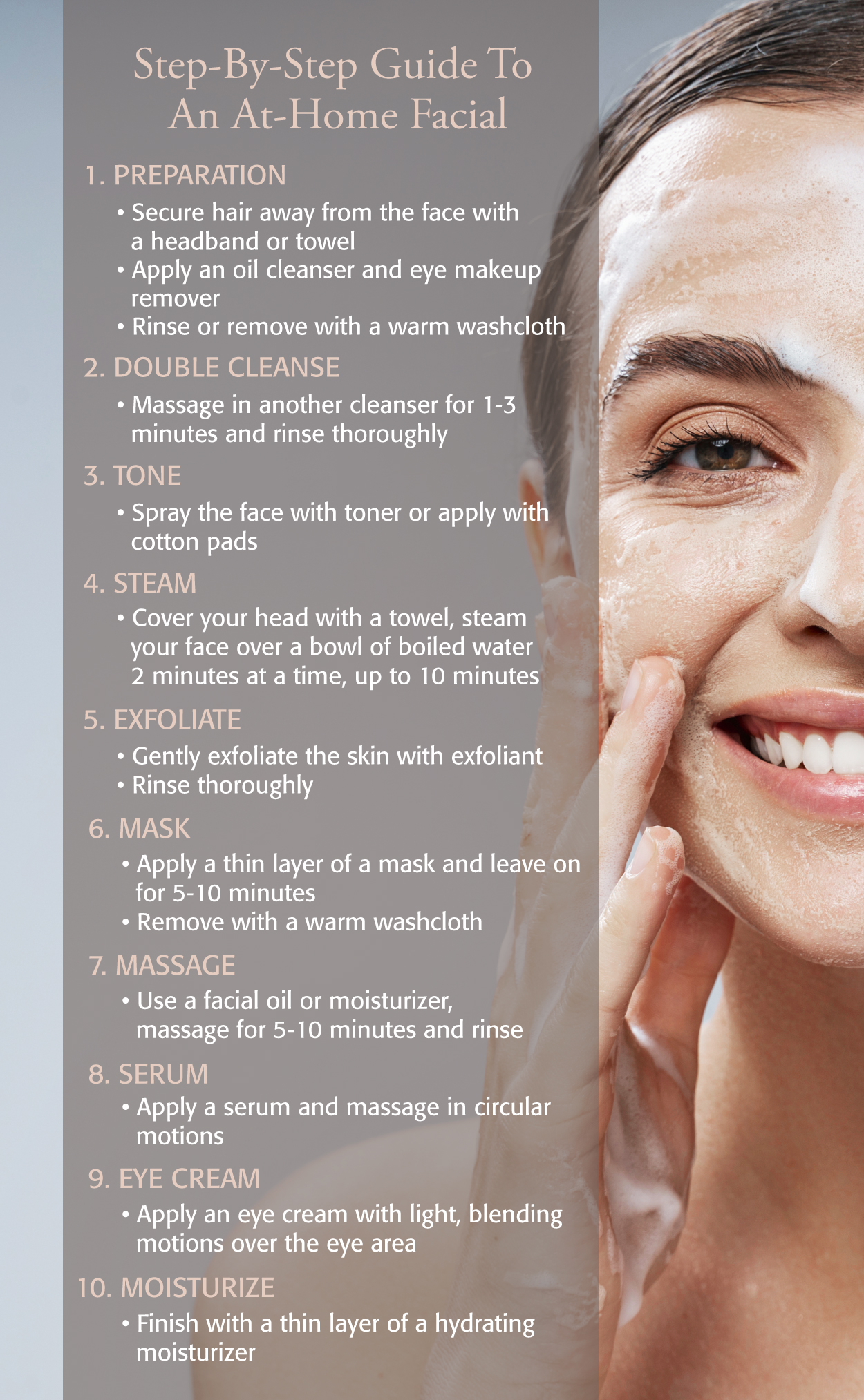 Eminence Organics Facial At Home Infographic