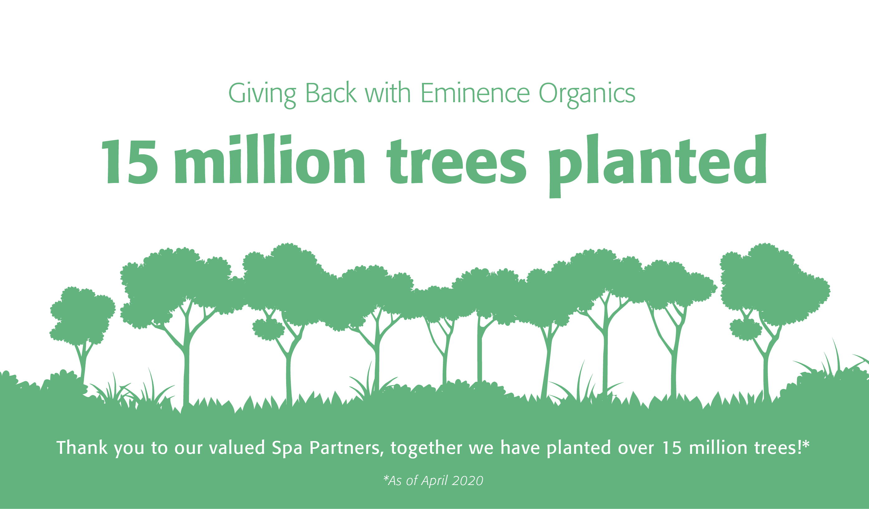 Thank you to our valued spa partners, together we have planted over 9 million trees as of November 2017.