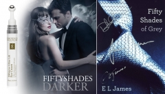 50 Shades Of Grey signed book cover