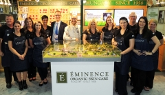 Eminence Organics team at ISPA booth -Eminence Organics Amazes 2000+ Spa Professionals at the ISPA Conference