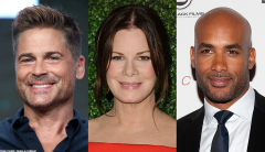 "Rob Lowe, Marcia Gay Harden and Boris Kodjoe of CBS Drama ""Code Black"""