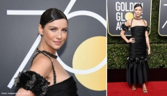 Award-winning actress Caitriona Balfe on the red carpet at the 2018 Golden Globes