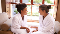 two woman at the spa