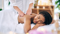 black woman getting a massage