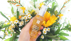 Eminence Organics Wildflower Ultralight Oil and flowers